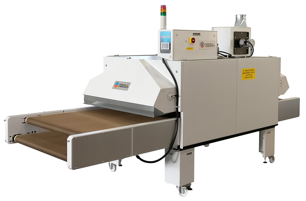 Forced hot air drying in dtg digital printing chiossi e for Forced hot air heating systems